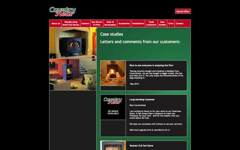 Screenshot of Case Studies Page countryheat.co.uk - Country Heat » Case Studies - captured Sept. 30, 2014