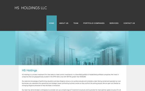 Screenshot of Home Page hsholdingsllc.com - HOME - HS Holdings - captured July 13, 2018
