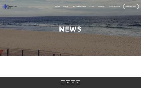 Screenshot of Press Page riointernationalschool.com - News — Rio International School - captured Sept. 30, 2018