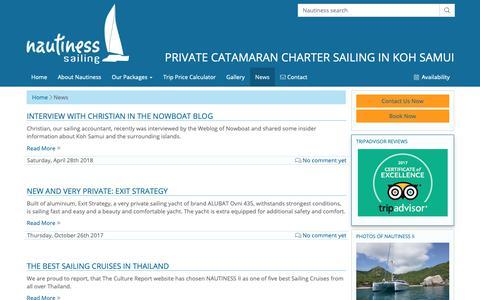 Screenshot of Press Page nautiness-sailing.com - News ⋆ Nautiness Private Yacht Charter Sailing - captured Oct. 1, 2018