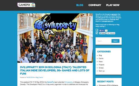 Screenshot of Blog gamepix.com - GamePix | Play games and conquer the world! - captured Sept. 22, 2014