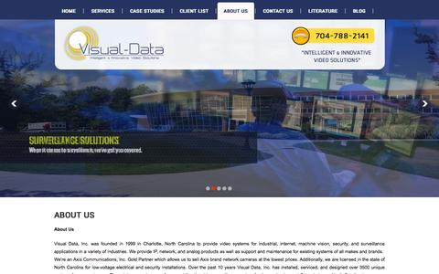 Screenshot of About Page visual-data.com - Visual Data - captured Oct. 10, 2014