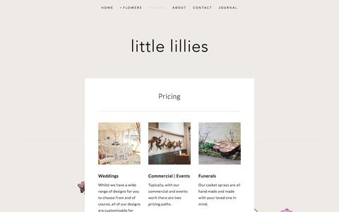 Screenshot of Pricing Page little-lillies.co.uk - Pricing — Little Lillies - captured July 14, 2018