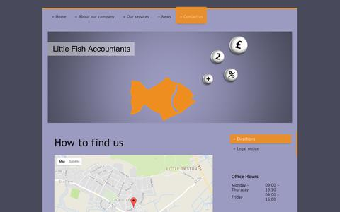 Screenshot of Maps & Directions Page littlefishaccountants.co.uk - Little Fish Accountants - Directions - captured Aug. 23, 2017
