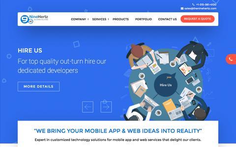Screenshot of Home Page theninehertz.com - Best Mobile App Development Company India   Web Development Agency - captured June 28, 2017