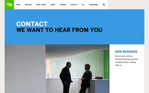 Screenshot of Contact Page frogdesign.com - Contact | frog - captured Sept. 25, 2014