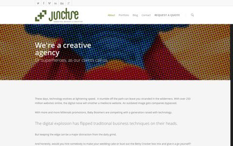 Screenshot of About Page thejuncture.com - About    Juncture LLC - captured Oct. 6, 2014