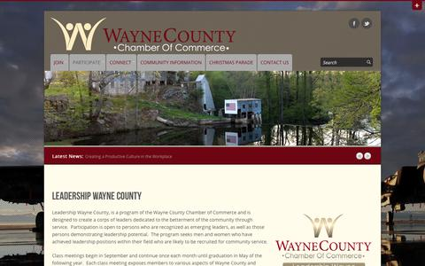 Screenshot of Team Page waynecountychamber.com - Leadership | Wayne County Chamber of Commerce – Goldsboro, NC - captured Oct. 7, 2014