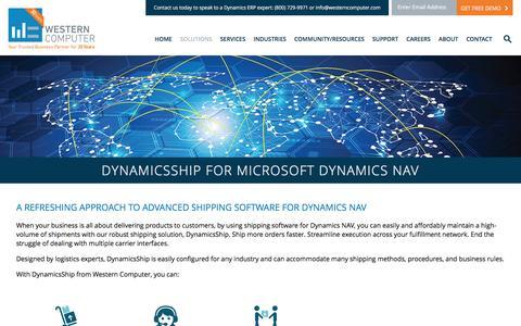 DynamicsShip | Western Computer | www.westerncomputer.com