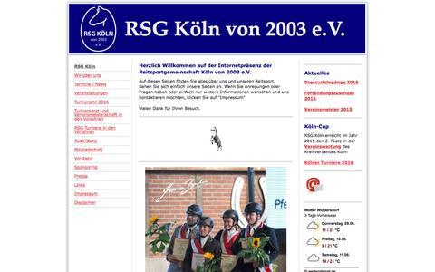 Screenshot of Home Page rsg-koeln.de - Reitsportgemeinschaft Köln von 2003 e.V. - RSG Köln - captured June 9, 2016