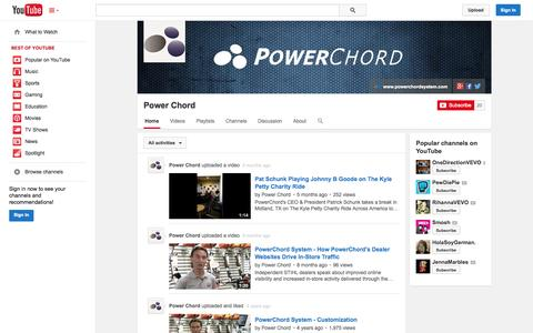 Screenshot of YouTube Page youtube.com - Power Chord  - YouTube - captured Oct. 22, 2014