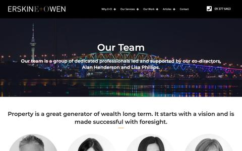 Screenshot of Team Page erskineowen.co.nz - The Team | Erskine & Owen - captured Dec. 8, 2018