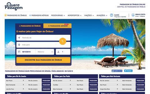 Screenshot of Home Page queropassagem.com.br - PASSAGEM DE ÔNIBUS ONLINE - captured Oct. 5, 2019