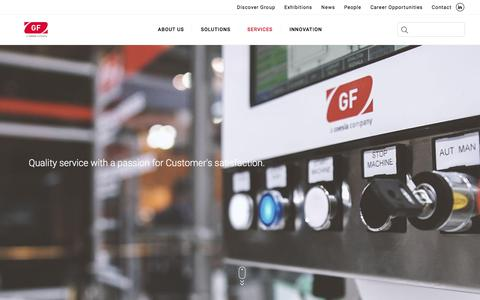 Screenshot of Services Page gfe.it - Services | GF - captured Feb. 23, 2018
