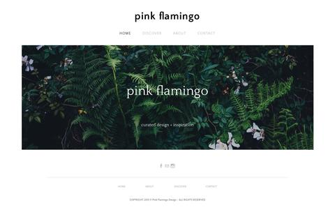 Screenshot of Home Page pinkflamingodesign.com - pink flamingo - Home - captured Dec. 9, 2015