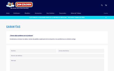 Garantías – Don Colchon