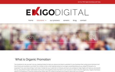 Organic Promotion - Exigo Digital