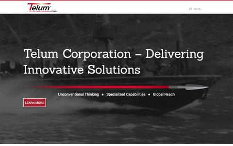 Screenshot of Home Page telumcorp.com - Home - captured Oct. 1, 2014