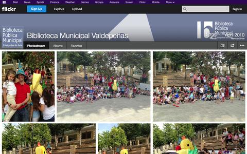 Screenshot of Flickr Page flickr.com - Flickr: Biblioteca Municipal Valdepeñas' Photostream - captured Oct. 23, 2014