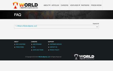 FAQ – World eSports, LLC