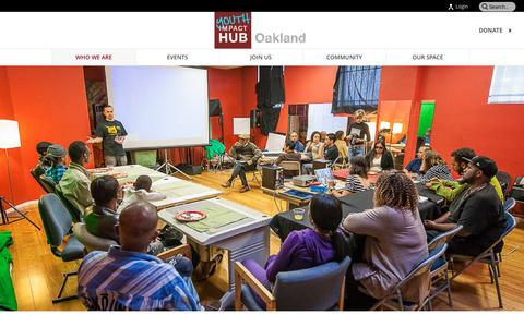 Screenshot of Team Page youthhuboakland.net - Team - Youth Impact HUB Oakland - captured March 26, 2016