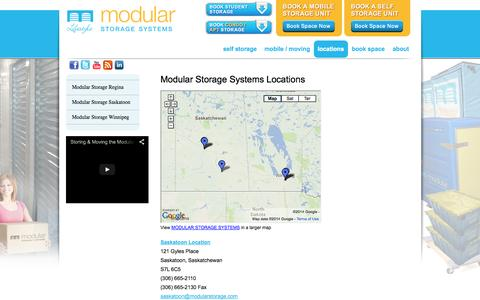 Screenshot of Locations Page modularstorage.com - locations - captured Oct. 7, 2014