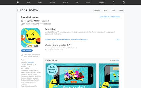 Sushi Monster on the App Store