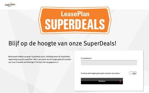 Zeer voordelig leasen met de SuperDeals van LeasePlan