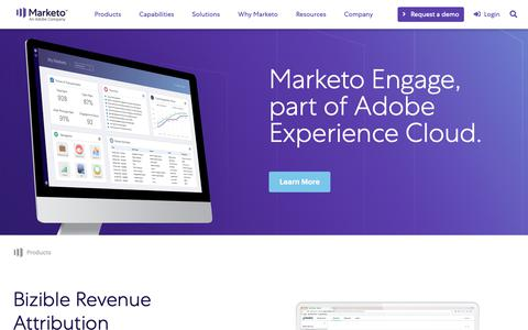Screenshot of Products Page marketo.com - Products - captured March 28, 2019