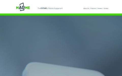 Screenshot of Home Page mad-me.com - MadMe |  The Future of Mobile Engagement | - captured Jan. 10, 2016