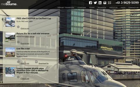 Screenshot of Press Page airmelbourne.com.au - News and Media   Air Melbourne - captured Nov. 2, 2014