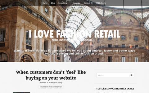 Screenshot of Blog ilovefashionretail.com - blog | Pursue your dreams in Fashion E-commerce - captured Sept. 30, 2014