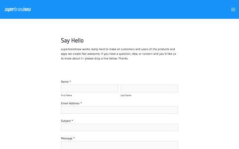 Screenshot of Support Page superbrandnew.com - Support — superbrandnew - captured June 17, 2017