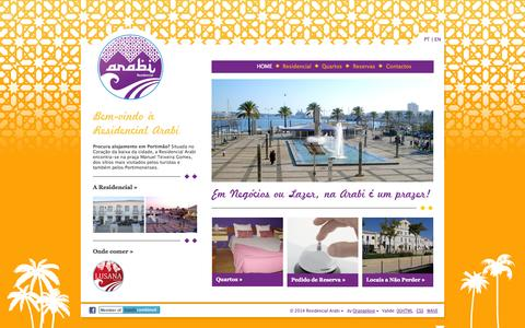 Screenshot of Home Page lusanarade.com - Residencial Arabi • Alojamento em Portimão - captured Oct. 4, 2014