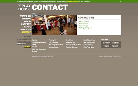 Screenshot of Contact Page wyp.org.uk - Contact - captured Oct. 26, 2014