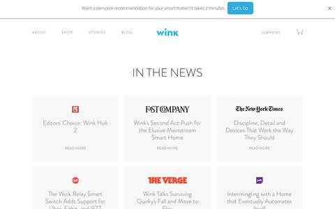 Screenshot of Press Page wink.com - Wink   Press - captured Feb. 6, 2017