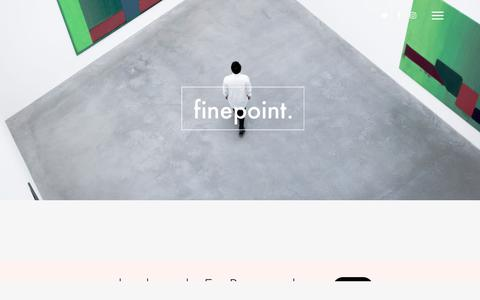 Screenshot of About Page finepoint.co - About – FinePoint - captured Oct. 13, 2017