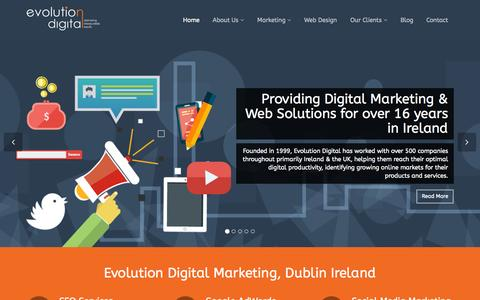 Screenshot of Home Page 2bscene.ie - Evolution Digital Marketing Agency, Digital Marketing Consultancy Services, Dublin, Ireland - captured Sept. 14, 2015