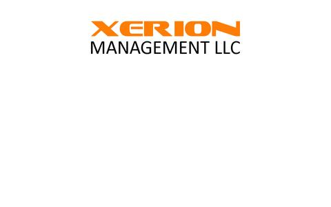 Screenshot of Home Page xerionmaterials.com - Xerion Management - captured Sept. 12, 2014