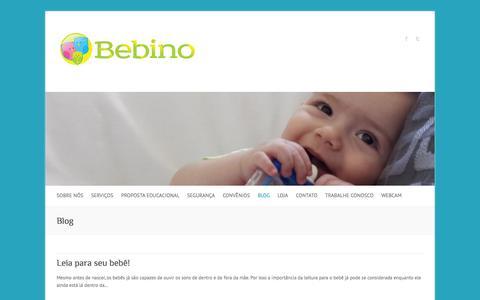 Screenshot of Blog bebino.com.br - Blog | Bebino - captured Sept. 30, 2014