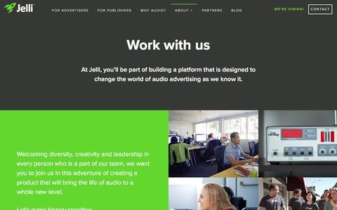 Screenshot of Jobs Page jelli.com - Jelli - captured Feb. 11, 2016