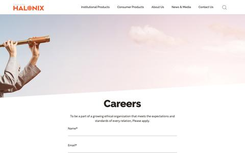 Screenshot of Jobs Page halonix.co.in - Careers – Halonix - captured Sept. 26, 2018