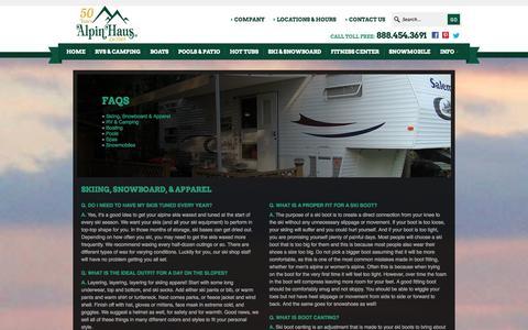 Screenshot of FAQ Page alpinhaus.com - Faq | Alpin Haus | Amsterdam New York - captured Sept. 30, 2014