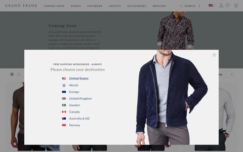 Screenshot of Press Page grandfrank.com - Coming Soon - captured Sept. 21, 2018