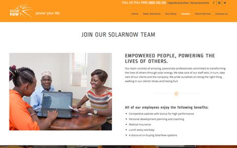 Screenshot of Jobs Page solarnow.eu - Careers - SolarNow Uganda - captured Dec. 12, 2016