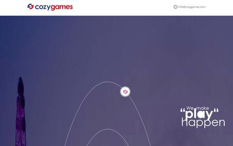 Screenshot of Home Page cozygames.com - Cozy games - captured Sept. 19, 2014