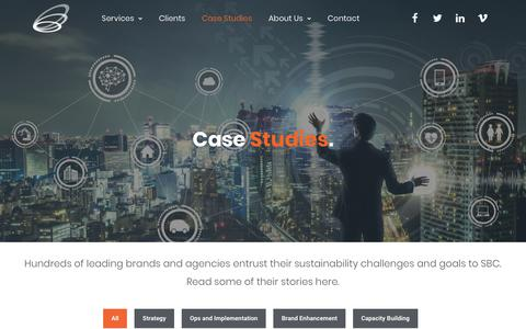 Screenshot of Case Studies Page sustainablebizconsulting.com - Case Studies - Sustainable Business Consulting - captured Oct. 19, 2018