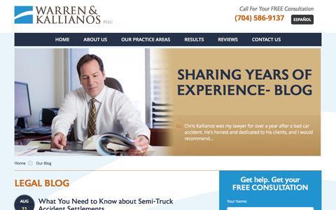 Screenshot of Blog warren-kallianos.com - Legal Blog | Warren & Kallianos - captured Aug. 11, 2016