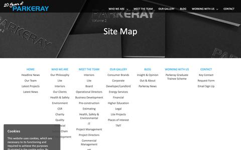 Screenshot of Site Map Page parkeray.co.uk - Site Map - Parkeray - captured Sept. 26, 2018