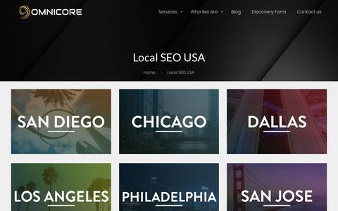 Screenshot of Locations Page omnicoreagency.com - Omnicore Service Locations - Experts in your City! - captured Nov. 9, 2018